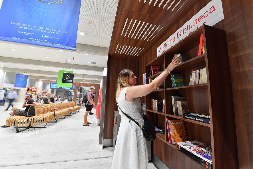 Monaco station has new attraction for book lovers