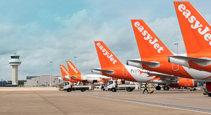 Easyjet cuts flights to UK airports