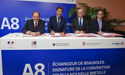 Monaco, France, sign Beausoleil A8 agreement