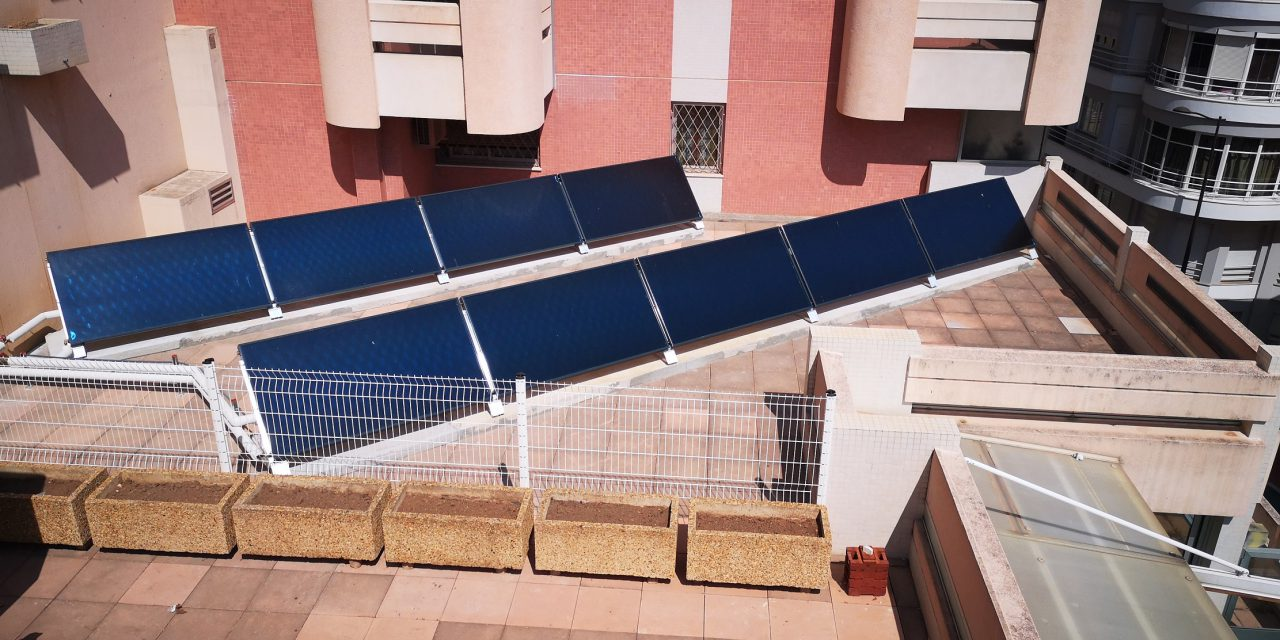 Solar hot water panels installed at Ecole des Revoires