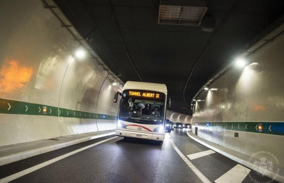 Three injured in Fontvieille tunnel collision