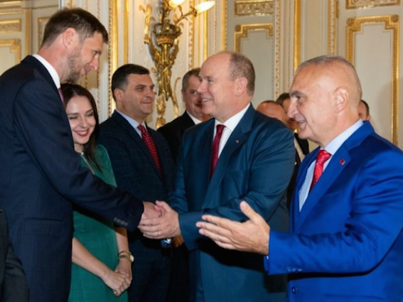 Albanian Royals, President, on official visit to Monaco