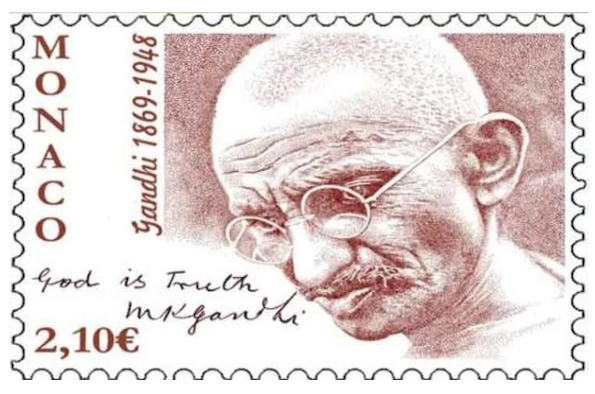Monaco celebrates Gandhi's birth with special postage stamp