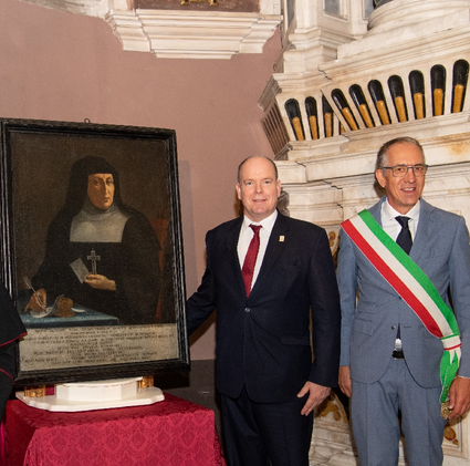 Prince Albert revisits Grimaldi sites in San Remo, Italy