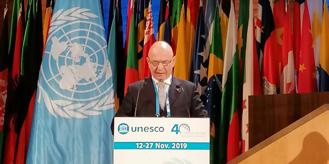 Minister reaffirms Monaco's commitments to UNESCO