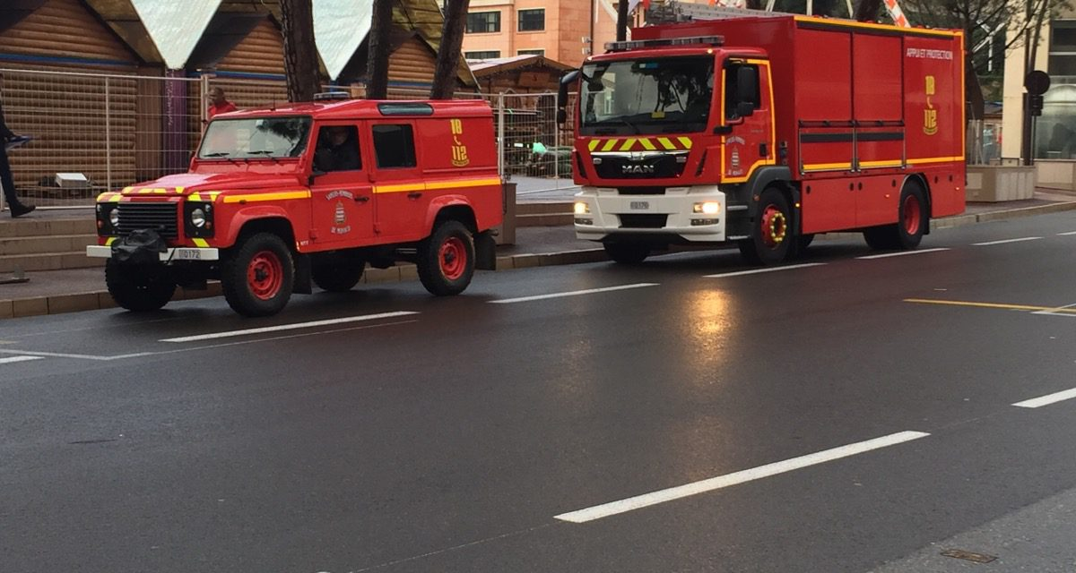 Monaco firefighters come to help of Alpes-Maritimes