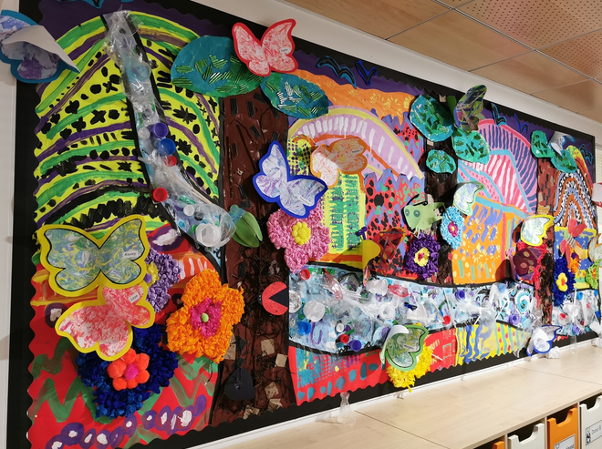 ISM youngsters produce stunning artwork on pollution