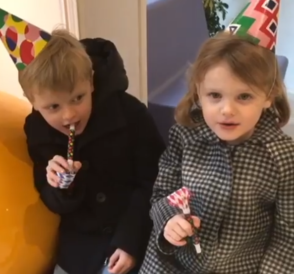 Twins record message for Grandma on their birthday