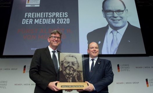 HSH Prince Albert receives German Press Freedom Prize