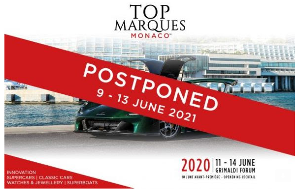 Top Marques cancelled – rescheduled for 2021