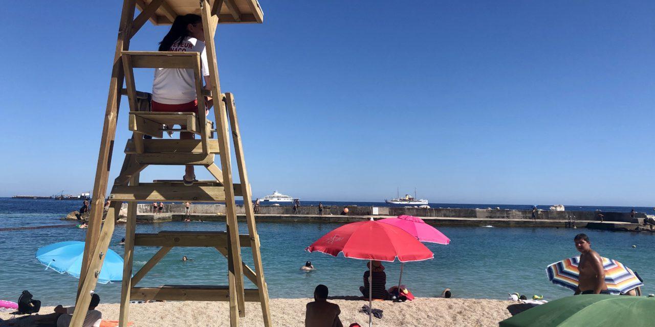 Larvotto Beach welcomes bathers again