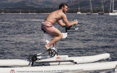 McGregor and Princess Charlene take to the high seas by bike