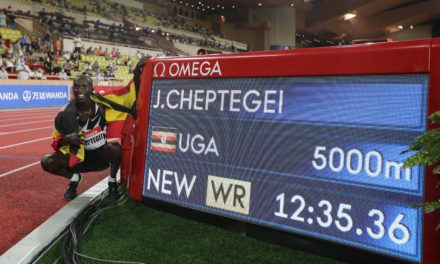 Cheptegei smashes 5,000 metres world record at Monaco Diamond League