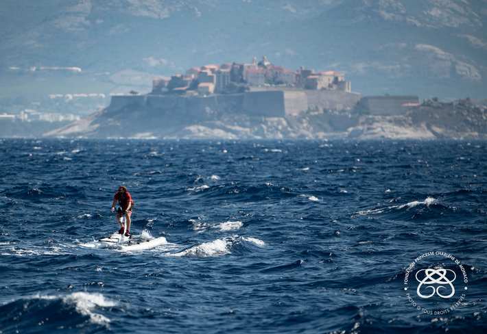 Princess Charlene's team wins the Calvi-Monaco Challenge with Serenity