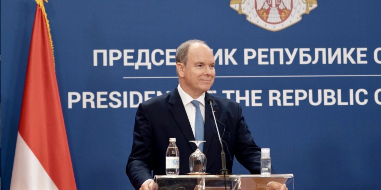 Prince Albert makes first ever official visit to Serbia