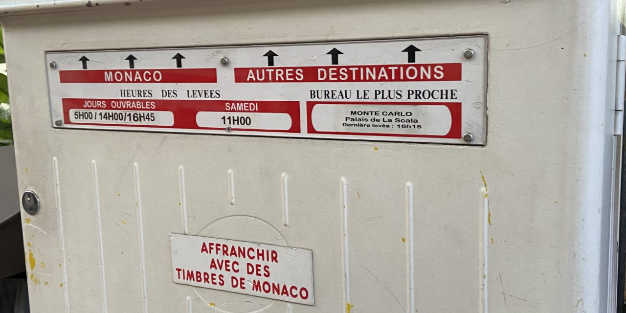 Monaco's post offices closed on Wednesday