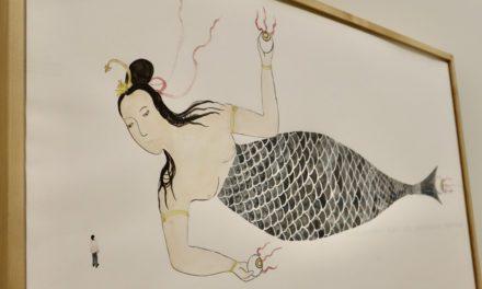 Shimabuku brings the 165-metre mermaid to Monaco