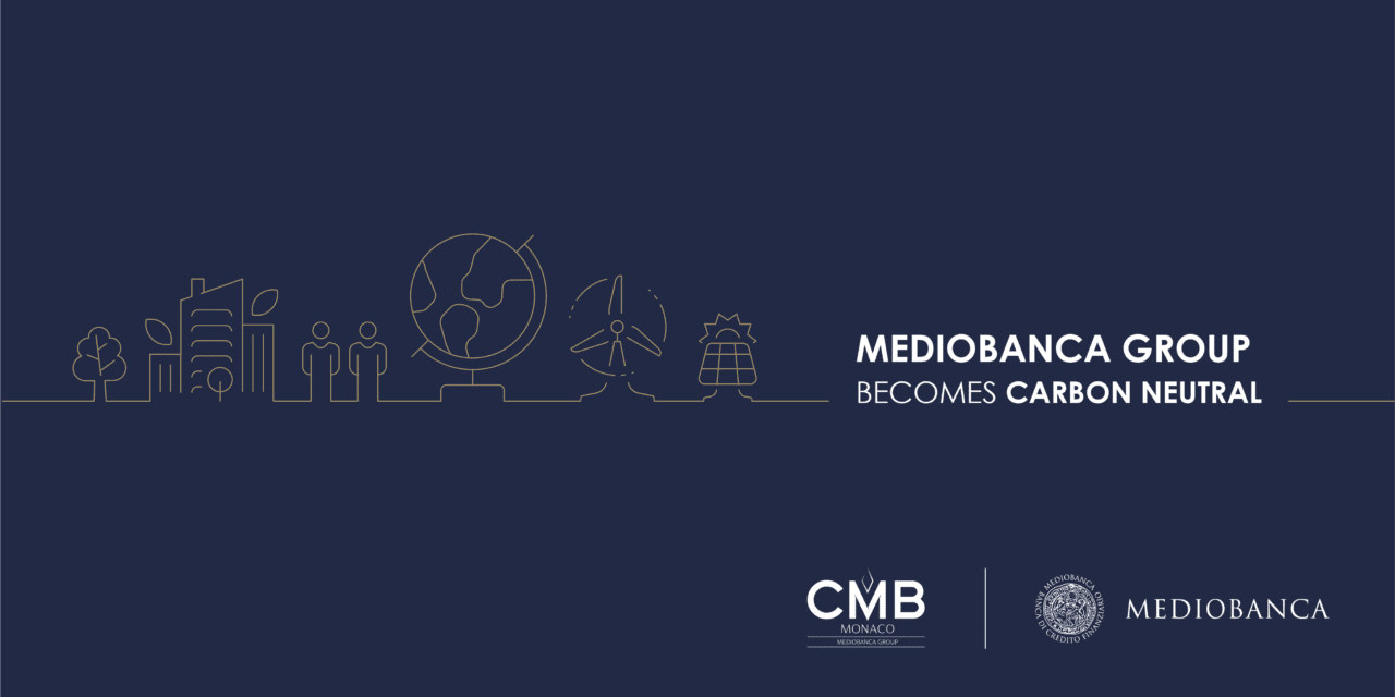 Mediobanca Group, which CMB Monaco is part of, becomes carbon neutral