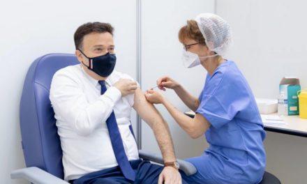 Stéphane Valeri receives vaccine in Monegasque inoculation mission