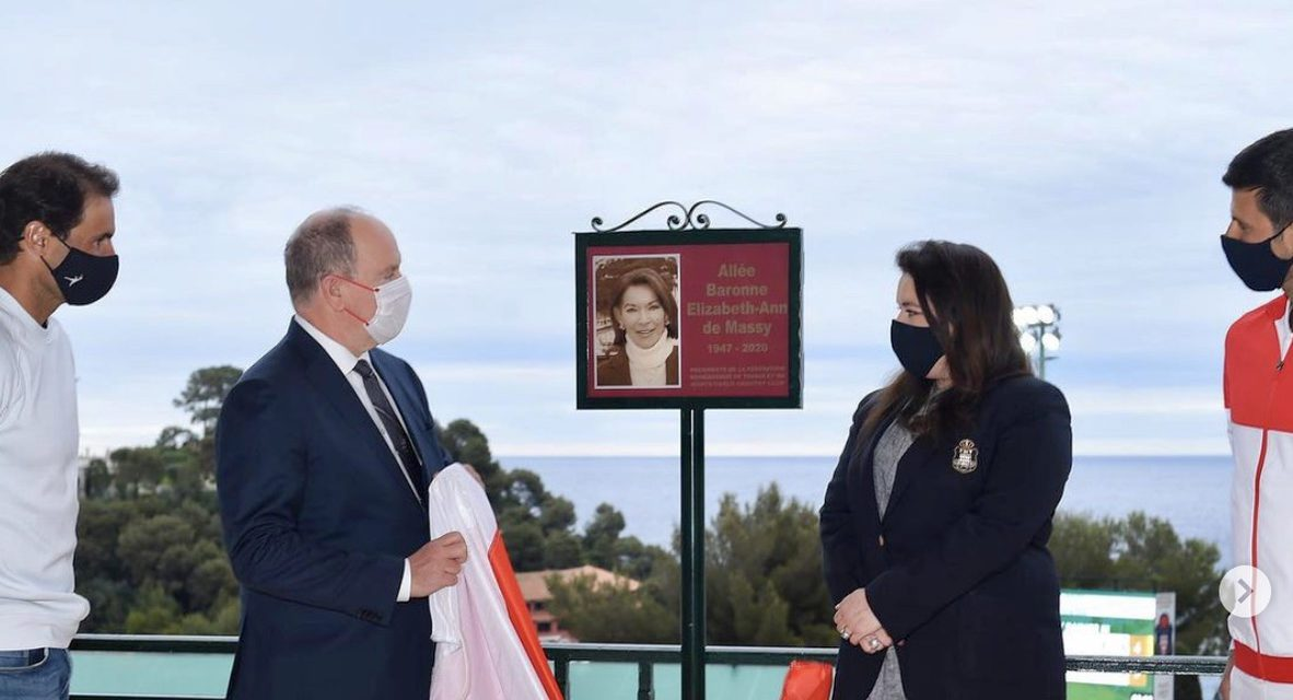 HSH Prince Albert II and Monte-Carlo Country Club pay tribute to Baroness Elizabeth-Ann de Massy