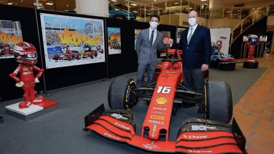 Charles Leclerc's winning SF90 finds new home in Prince's car collection