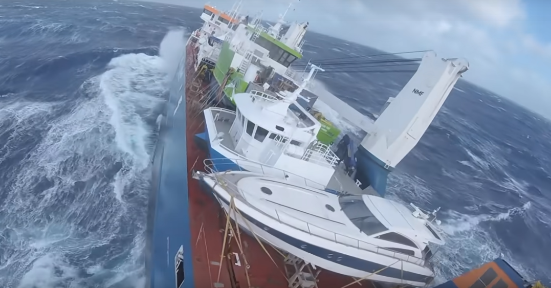 Yacht Transport ship likely to be saved – but cargo lost