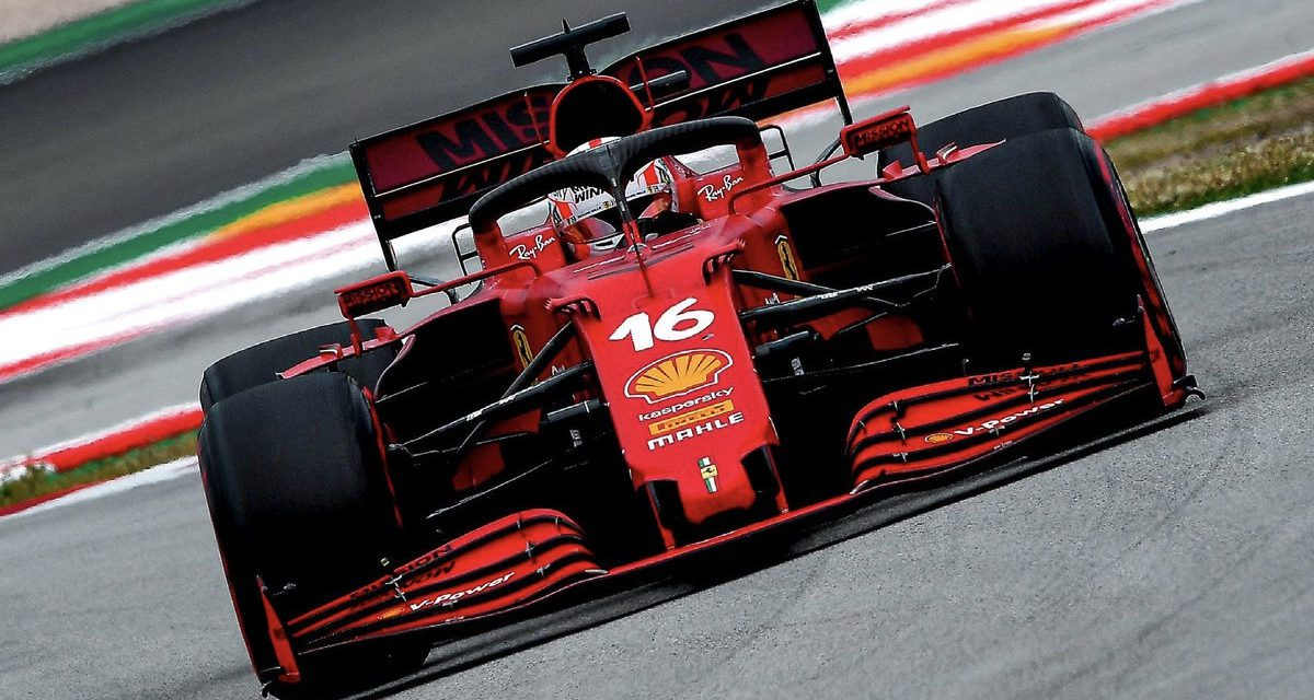 Leclerc finishes fourth in Spain