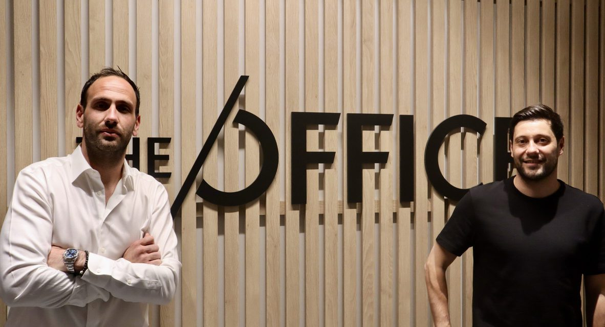 Friends in life, and in business: Olivier Blanchy and Arnaud Sbarrato of THE OFFICE