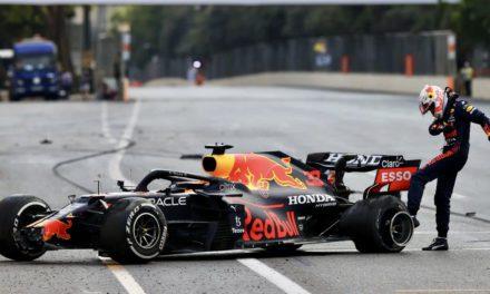 Verstappen crashes out of dramatic Azerbaijan Grand Prix