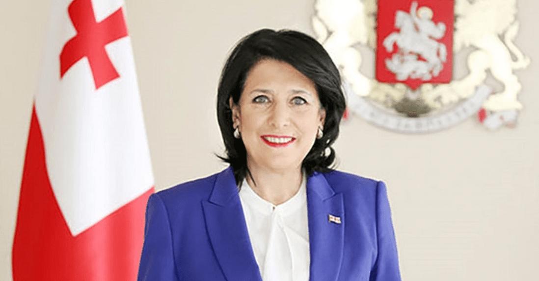 Georgian president helps represent national wines