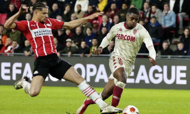 AS Monaco beat PSV Eindhoven with last minute winner